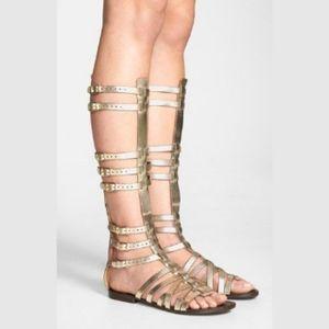 Steve Madden Gold Spartacus Gladiator Sandals